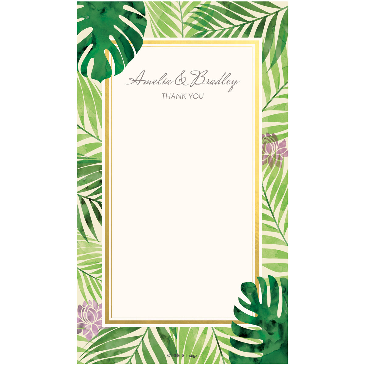 Tropical Elegance Thank You Cards