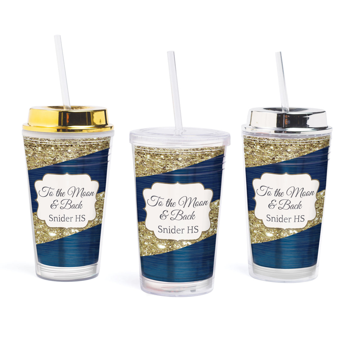 To the Moon & Back Personalized Tumbler