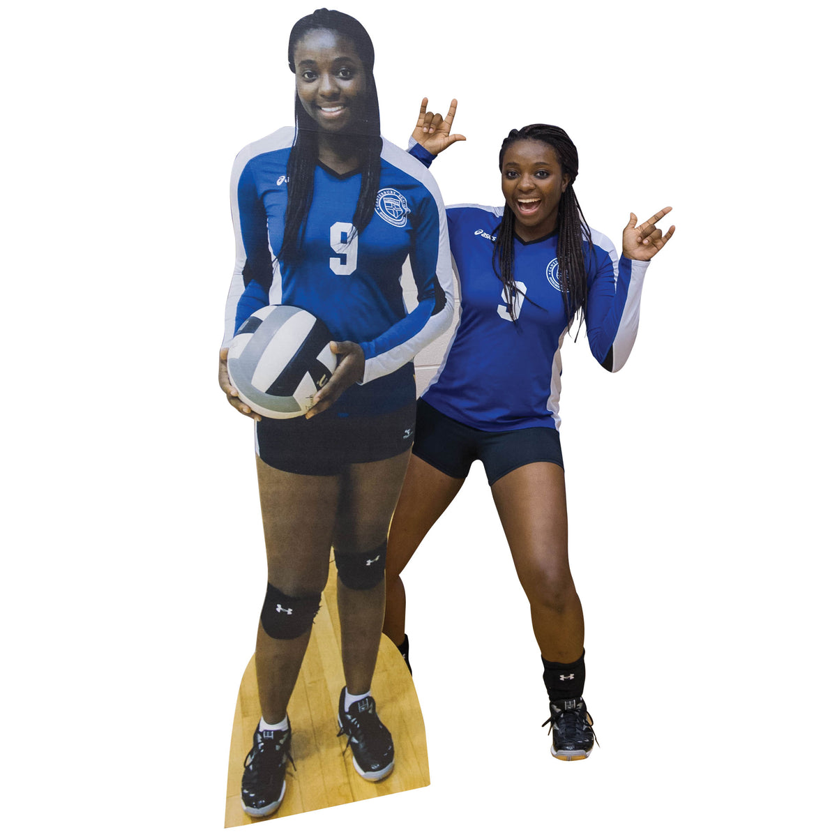 18 in. to 9 ft. Volleyball Player Select-a-Size Photo Standee