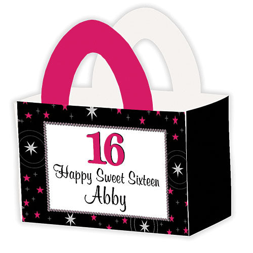 Sweet 16 Stars Personalized Favor Box