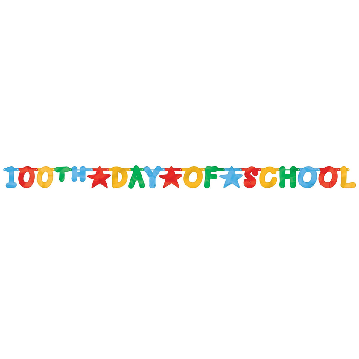 100th Day of School Foil Letter Banner
