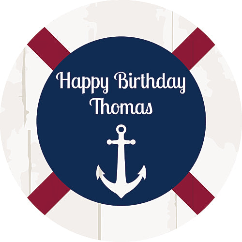 Anchors Away Personalized Stickers