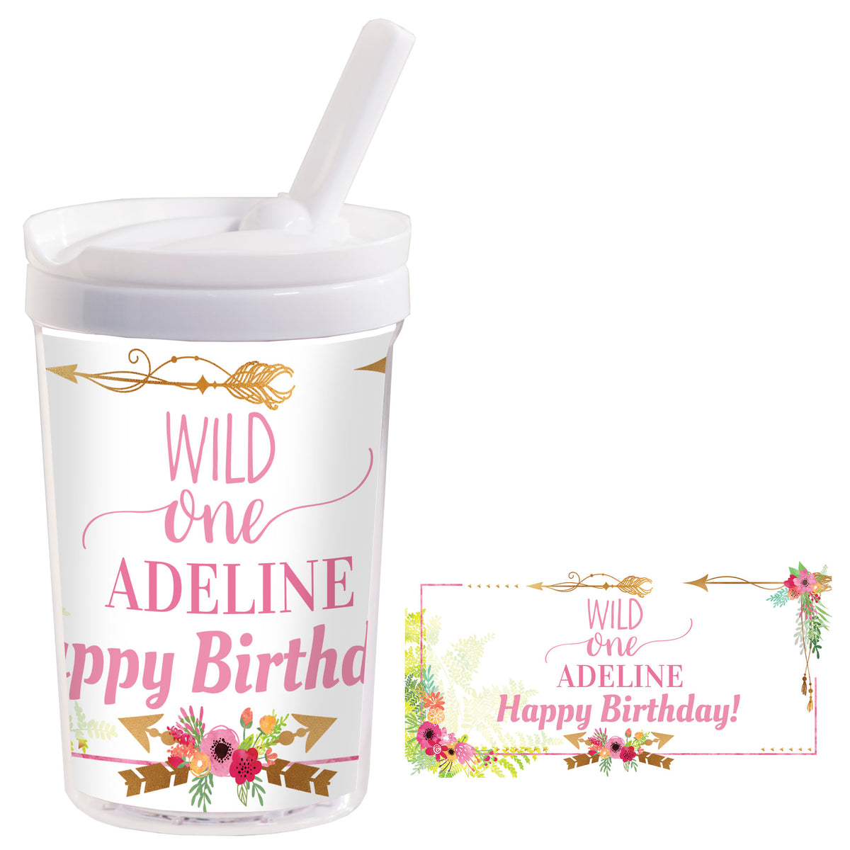 Wild One Girl Personalized Kids Tumbler