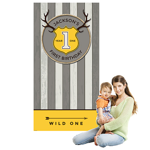 Wild One Personalized Photo Background
