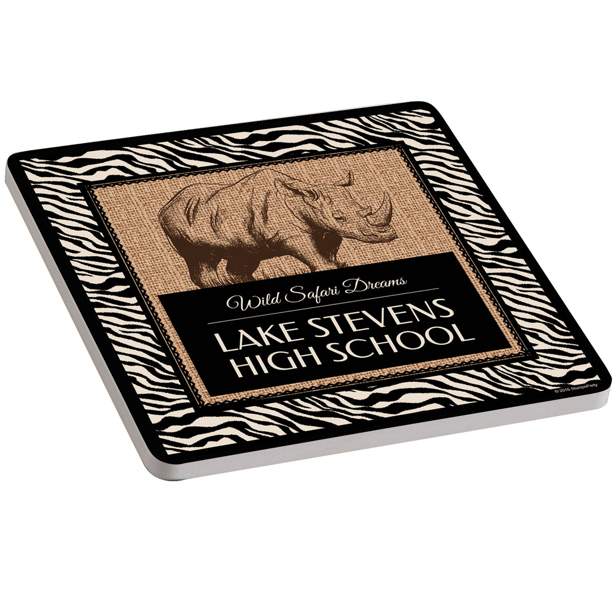 Wild Safari Dreams Personalized Ceramic Coaster