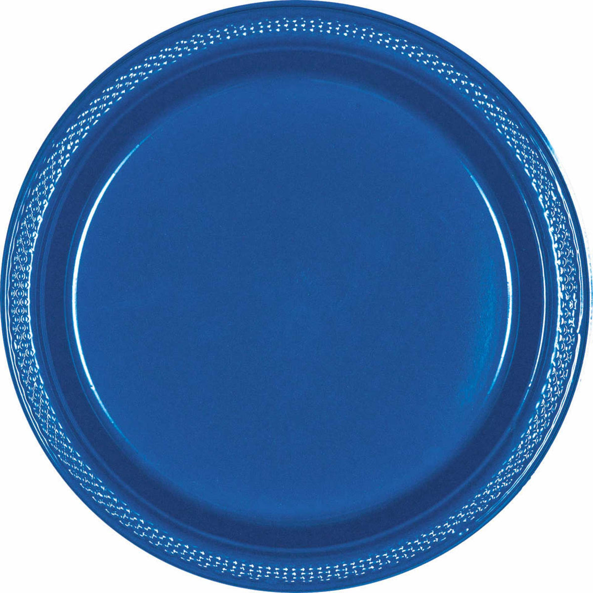 "True Blue 10 1/4"" Plastic Plates"