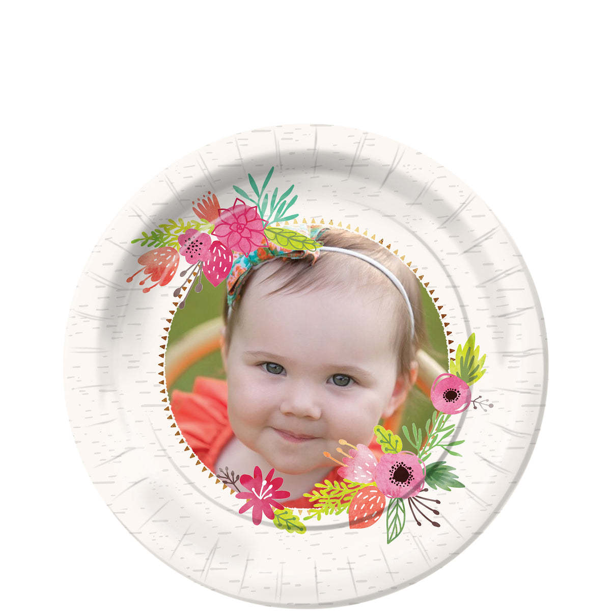 Wild One Girl Personalized Dessert Plates