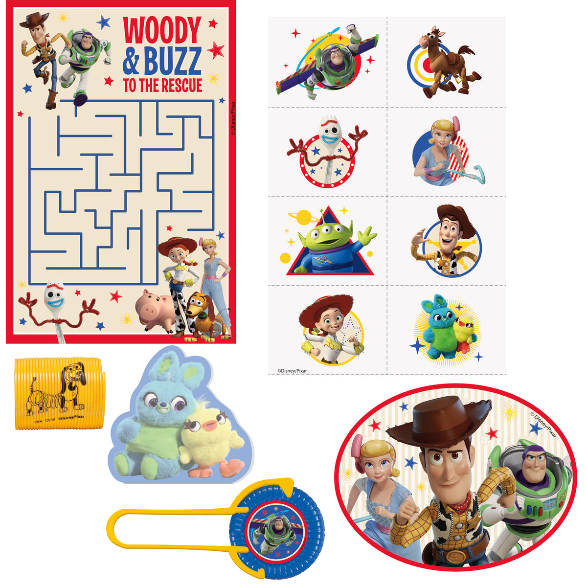 Toy Story 4 Favor Pack for 8