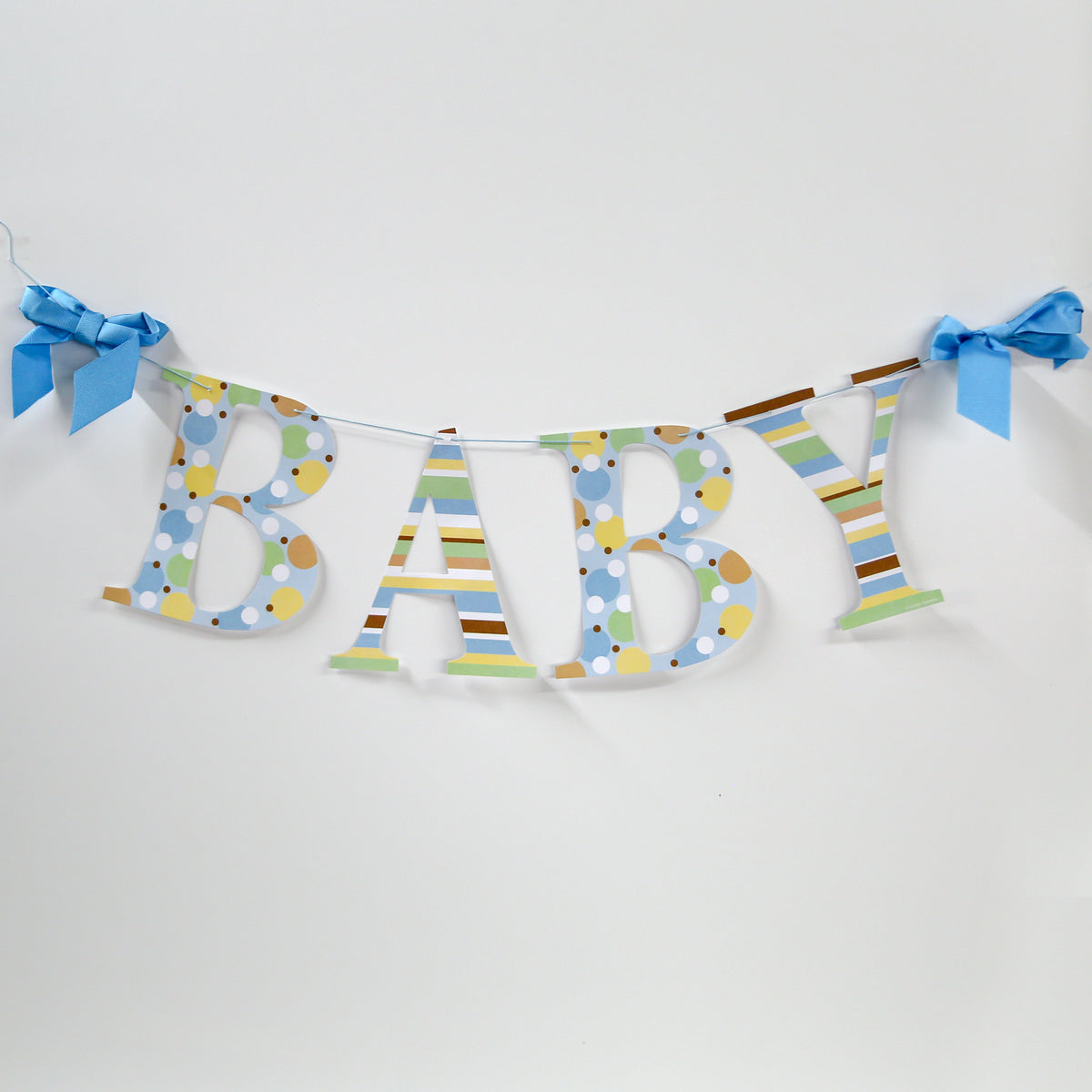 Tiny Toes Blue Letter Garland