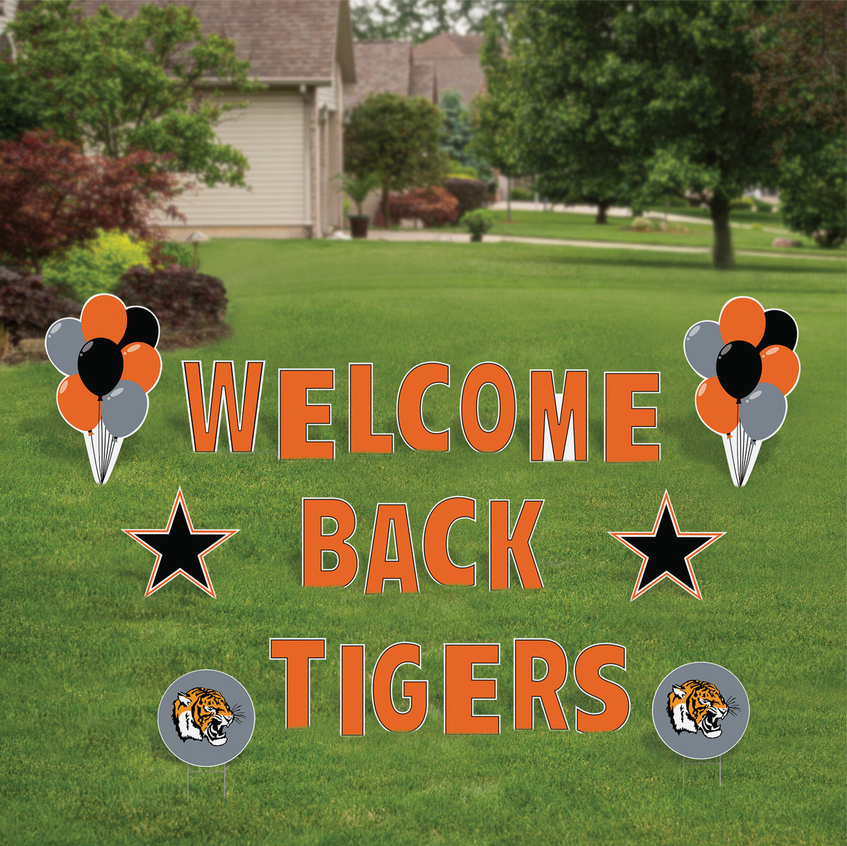 Welcome Back Tigers Yard Sign Expression Set
