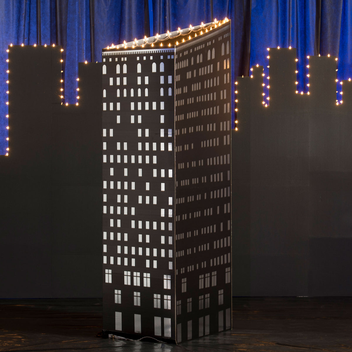 7 ft. 10 in. Big City Lights Flatiron Building Prop