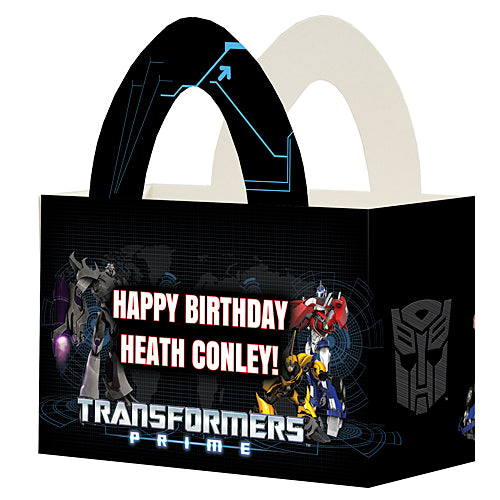 Transformers Personalized Favor Box