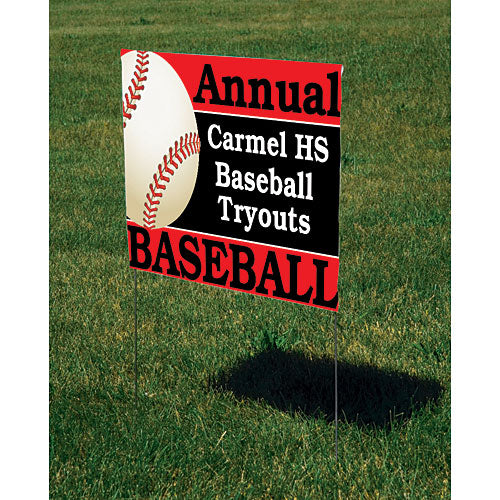 Customized Baseball Yard Sign