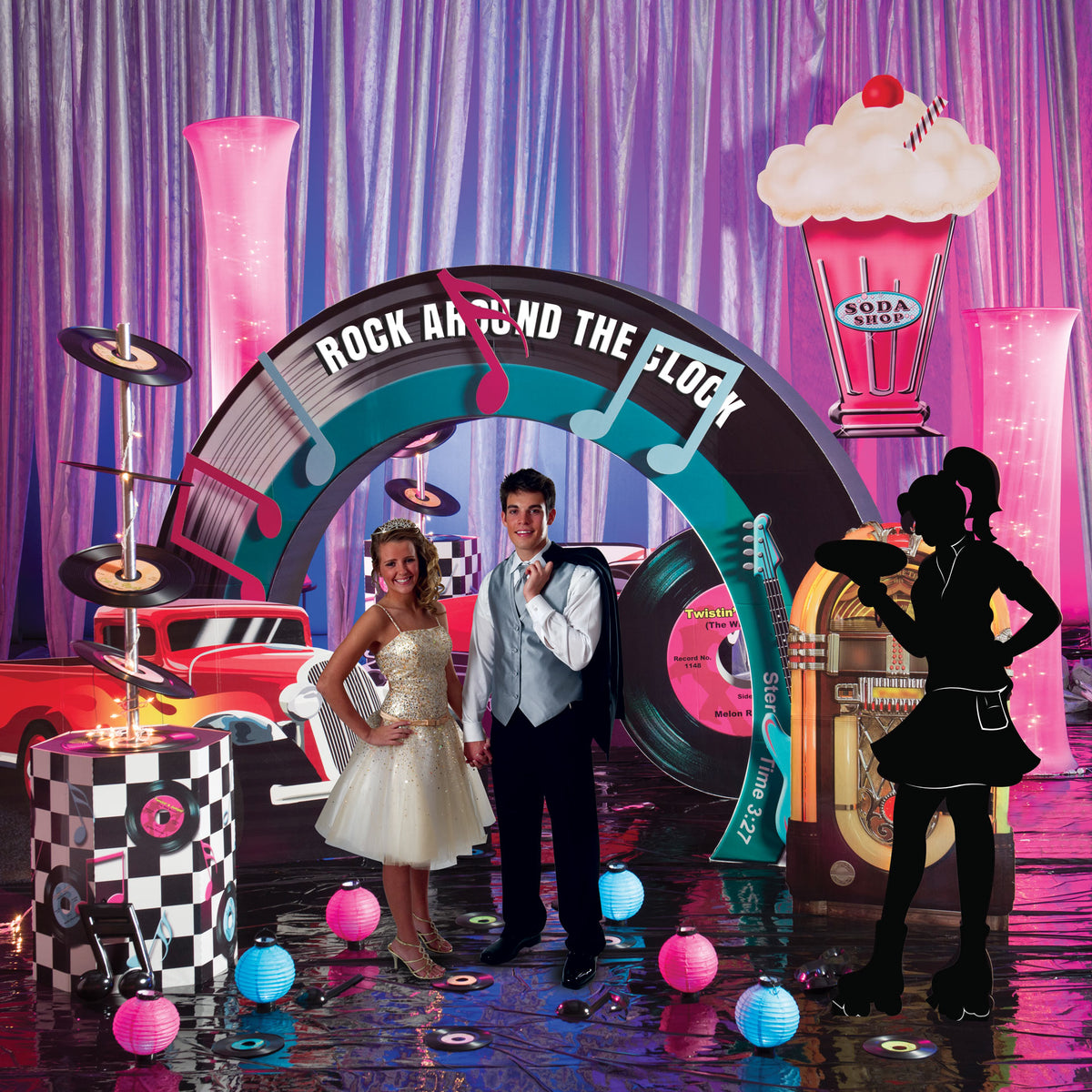 Fifties Party Ultimate Set the Stage Kit