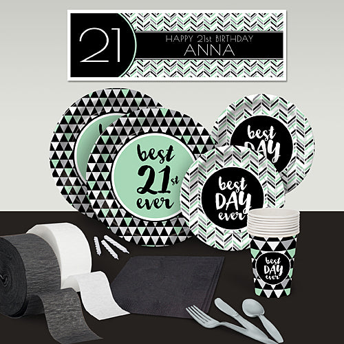 Best Day Ever 21 Deluxe Party Pack For 8