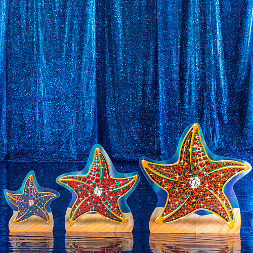 1 ft. 7 in. to 2 ft. 10 in. Treasures of the Deep Starfish Standee Set