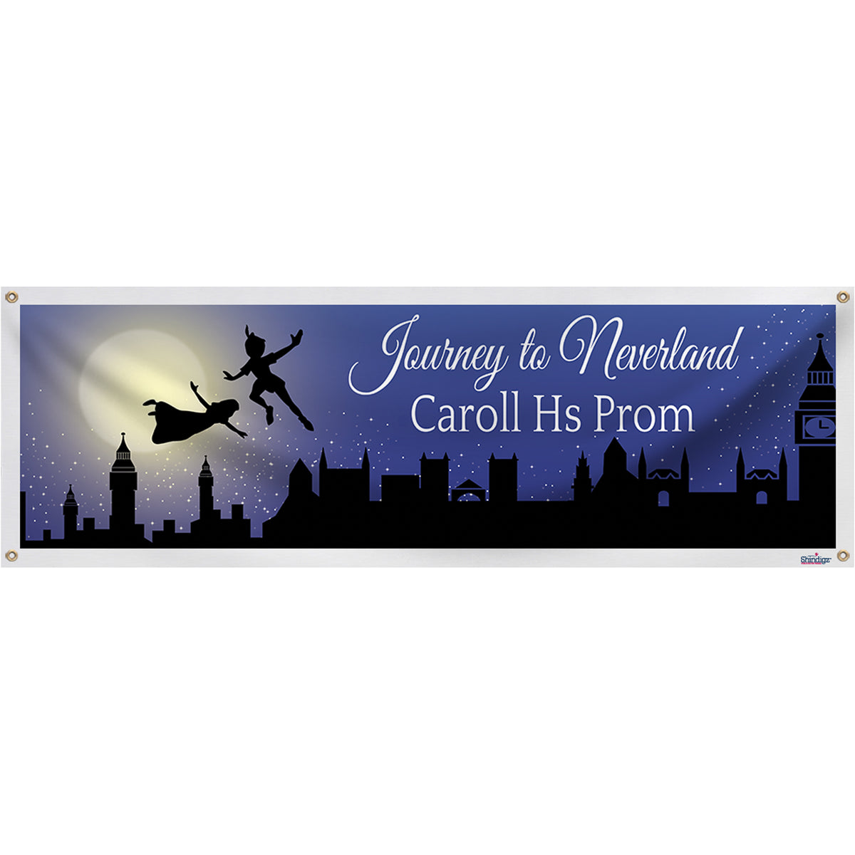 A Night in Neverland Personalized Banner