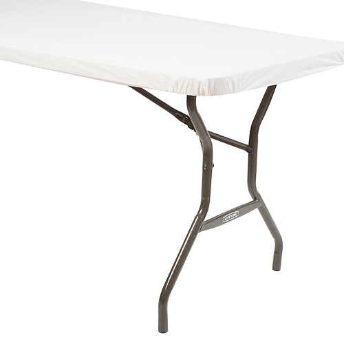 White Stay Put Table Cover