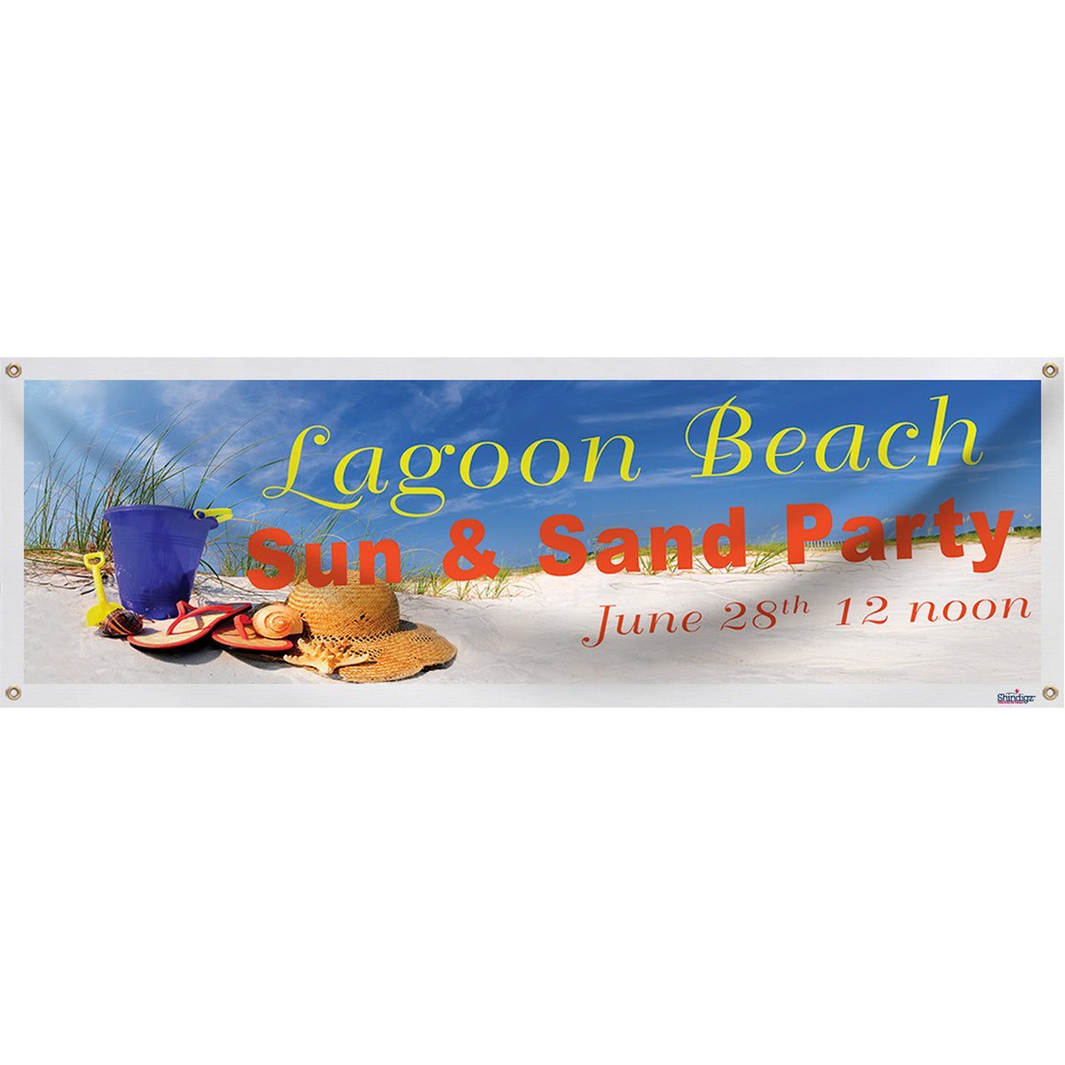 Beach Party Personalized Banner
