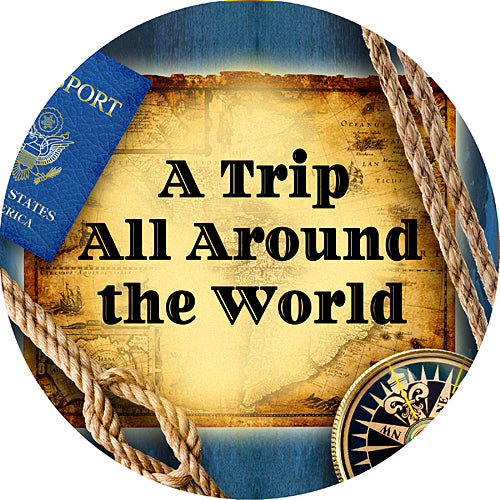 Around the World Personalized Stickers