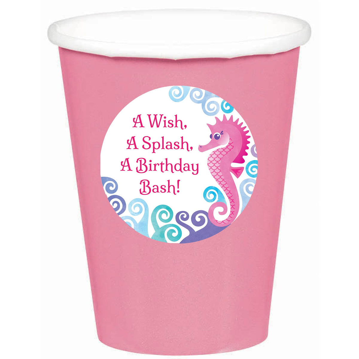 Waves and Wishes Stickered Personalized Cups