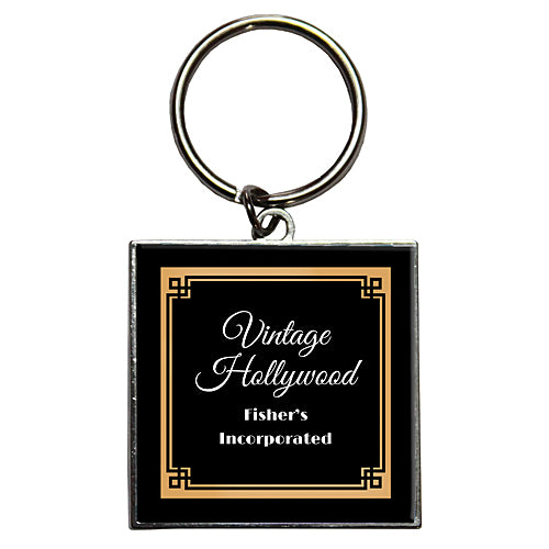 Vintage Hollywood Personalized Dome Key Chains