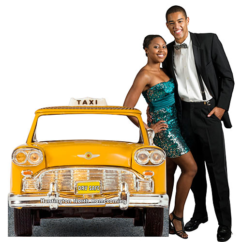 3 ft. 4 in. Taxi Cab Personalized Standee