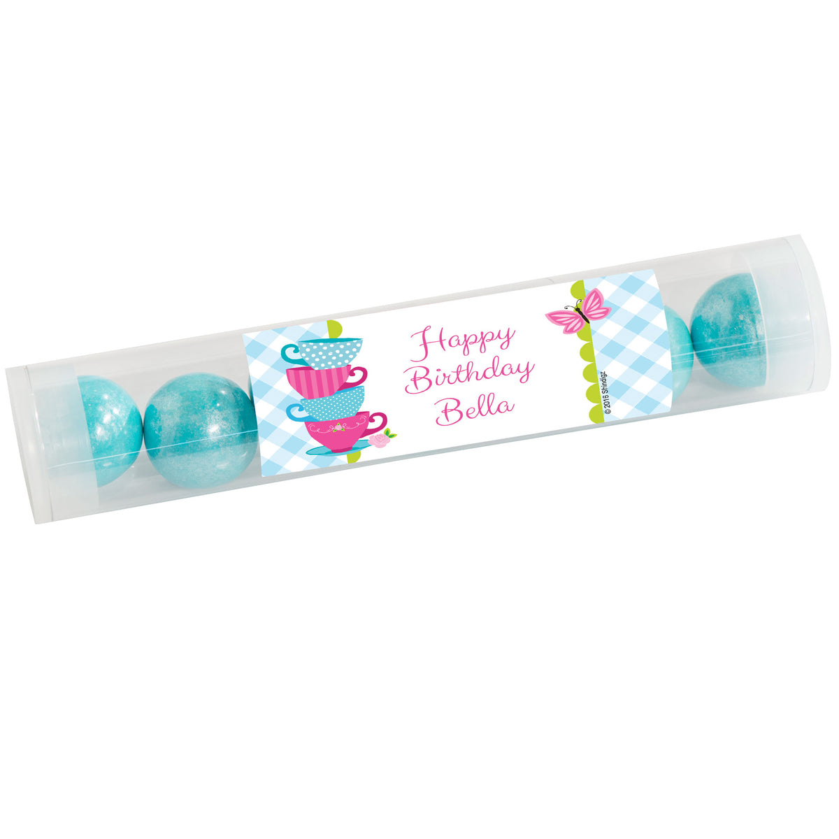 Tea for Two Personalized Candy Tubes