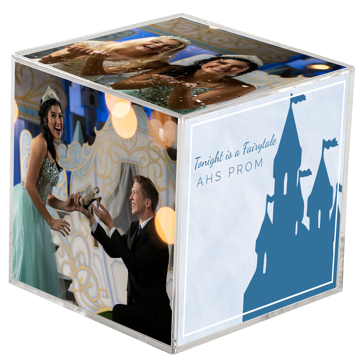 Tonight is a Fairytale Personalized Photo Cube