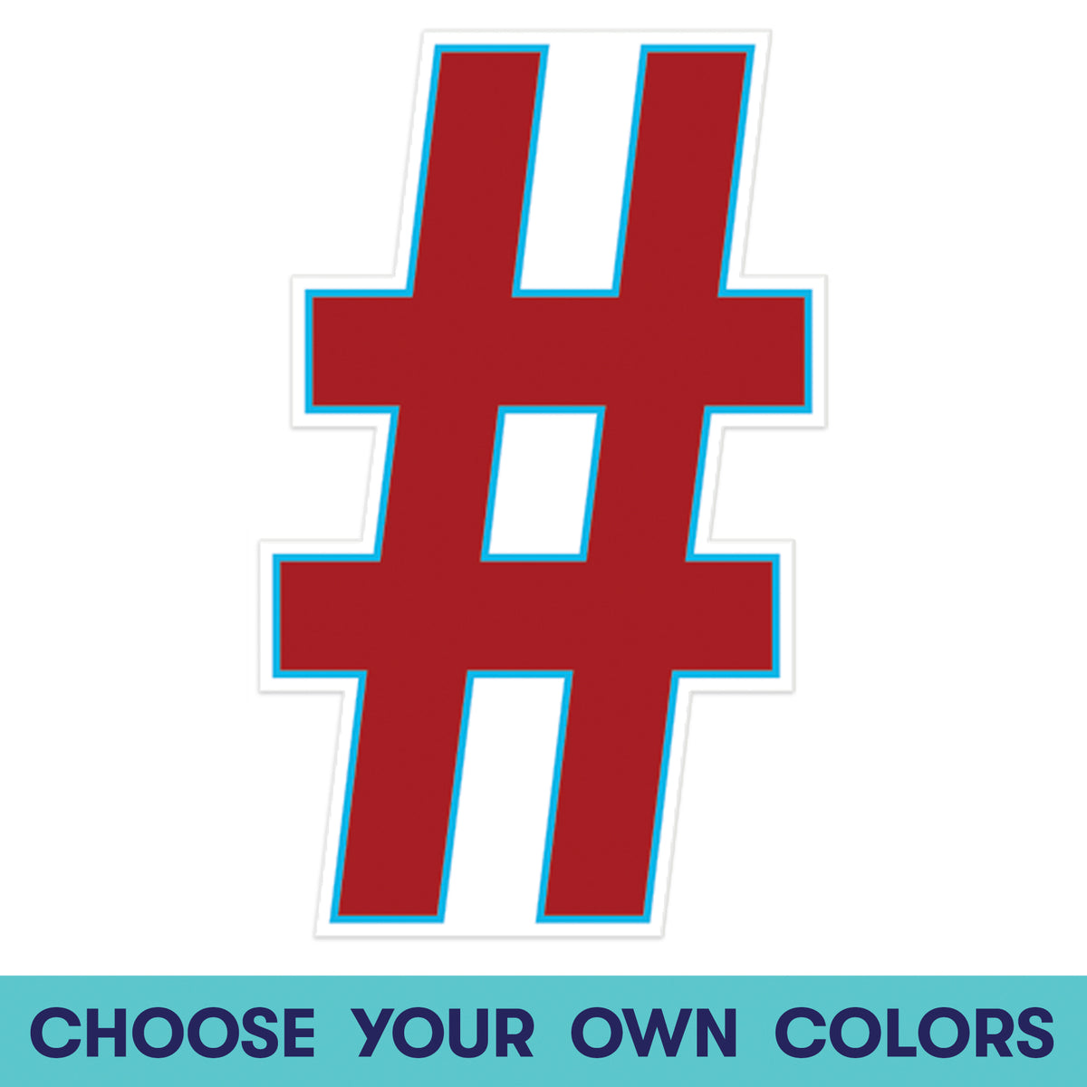 1 ft. 11 in. Symbol Hashtag Wall Decal