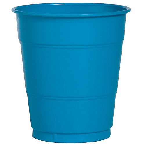 Turquoise 12 oz Plastic Cups