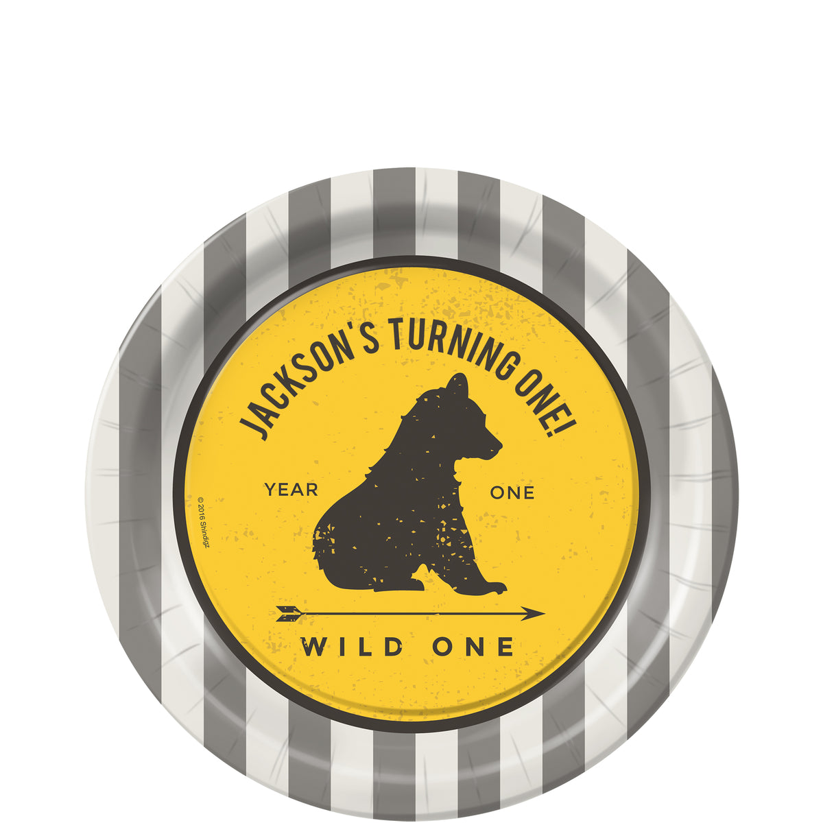 Wild One Personalized Dessert Plates