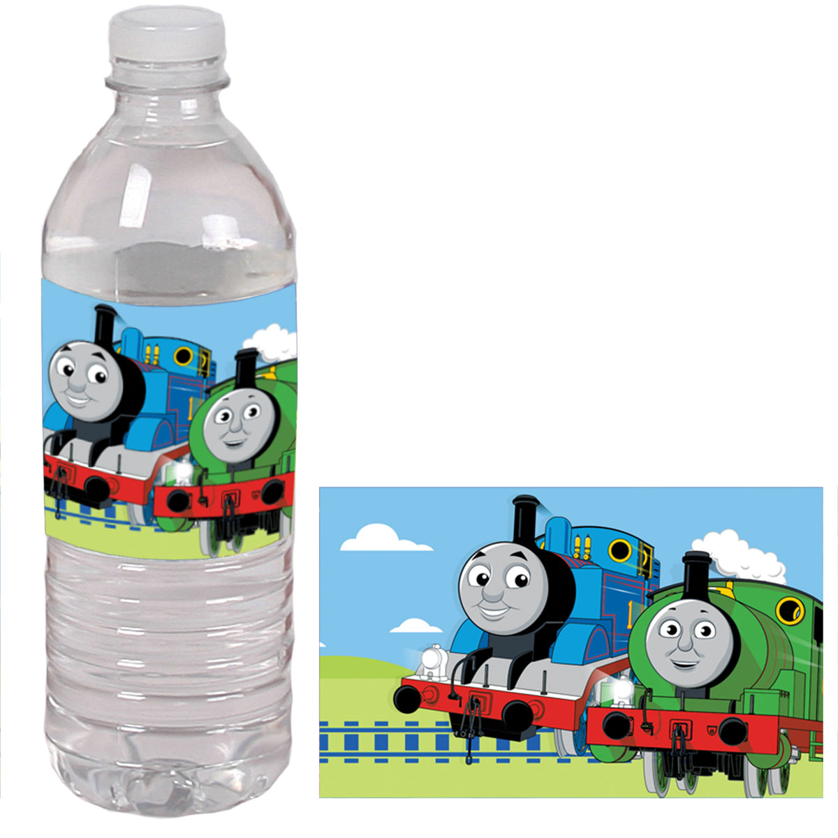 Thomas and Friends Personalized Water Bottle Labels