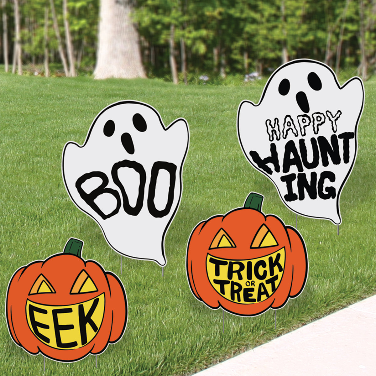Trick or Treat Yard Sign Set