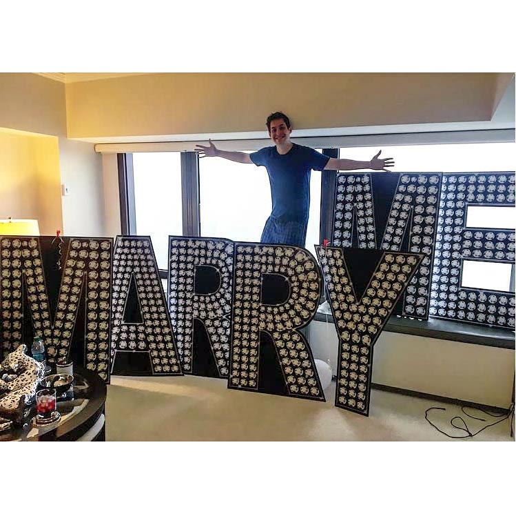 3 ft. 10 in. Will You Marry Me Diamond Letter Set