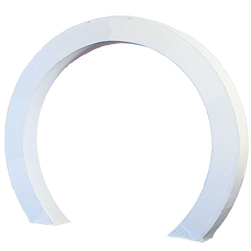 8 ft. 6 in. White Luminescent Circle Arch Fabric Slip