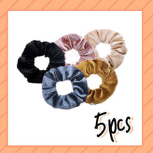 Load image into Gallery viewer, Tie-Dye Velvet Scrunchies with Hidden Pocket