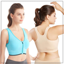 Load image into Gallery viewer, FitMe™ Breathable Zip Front Sports Bra