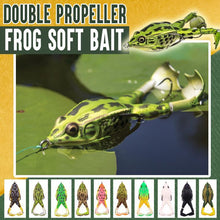 Load image into Gallery viewer, Double Propeller Frog Soft Bait