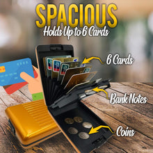 Load image into Gallery viewer, Aluminum RFID Blocking Wallet Accessories DazzlingBreeze