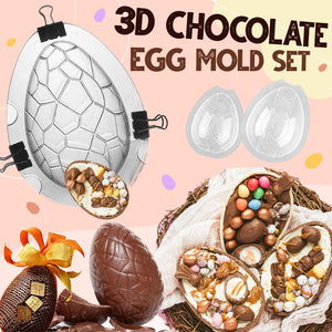 3D Chocolate Egg Mold Set