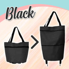 Load image into Gallery viewer, Foldable Shopping Trolley-Tote Bag MadameFlora Black
