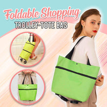 Load image into Gallery viewer, Foldable Shopping Trolley-Tote Bag MadameFlora Green