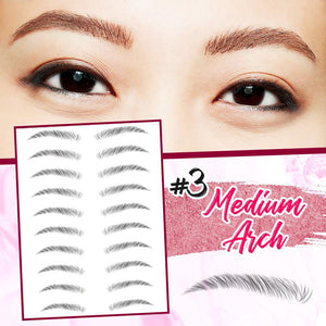 4D Hair-Like Eyebrows Stamp (10 pairs) Hair DazzyCandy