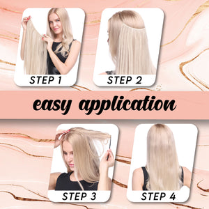Rapunzel Invisible Hair Extensions Hair MadameFlora