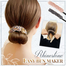 Load image into Gallery viewer, Rhinestone Easy Bun Maker starryhome