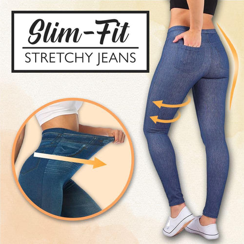 Slim Fit Stretchy Jeans MadameFlora Blue S/M