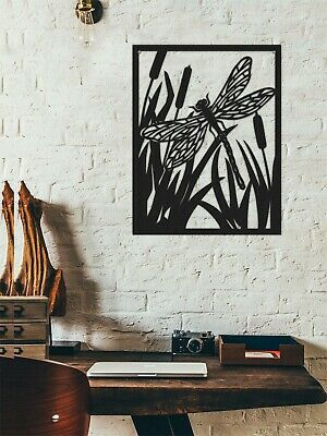 Butterfly with Flower Metal Wall Art