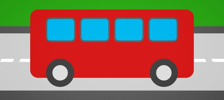 bus rouge
