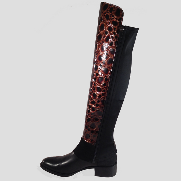 LIMITED EDITION Undercover OTK – copper reptile-effect patent leather